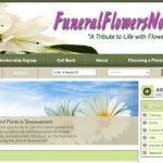 """""""Website Design Funeral Flowers Now"""""""