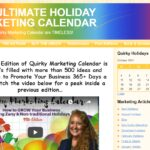 """quirky marketing calendar """